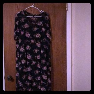 Black and rose dress